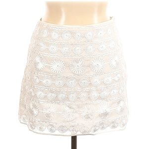🟡 DKNY Size 14 Casual Embroidered Mini Skirt